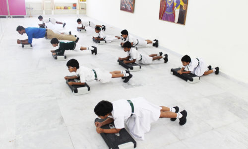 Students Exercise with a trained professional