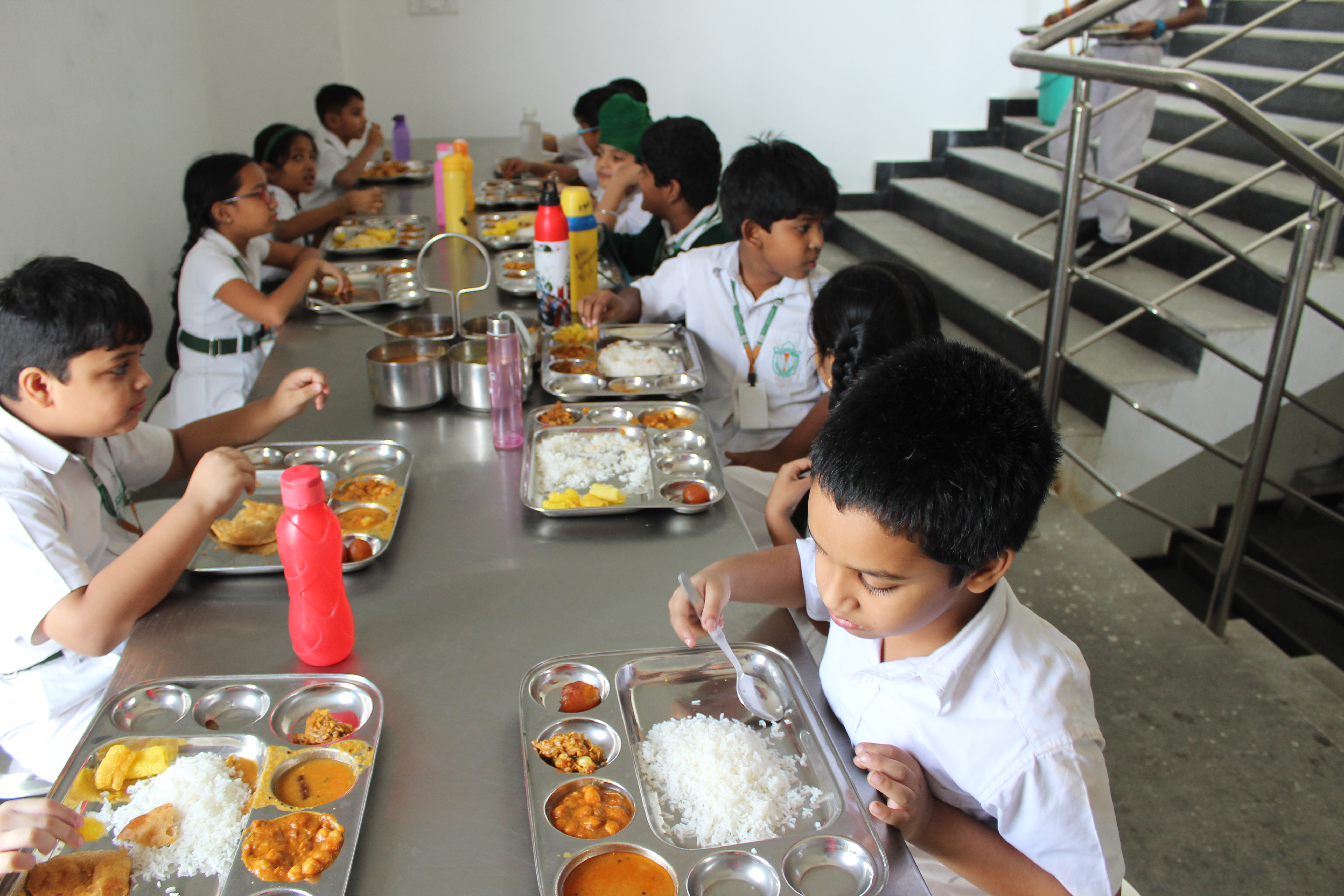 Students eating their lunch