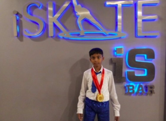 Hyderabad District School Games Federation Gold Medal Winner in Skating